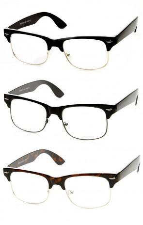 Retro Fashion Horned Rim Clear Lens Rectangle Horn Rimmed Glasses
