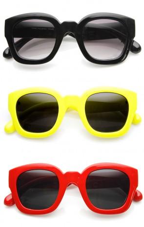 Bold Rim Thick Frame Retro Square Frame Sunglasses