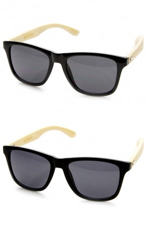 Eco-Friendly Fashion Genuine Bamboo Horn Rimmed Sunglasses