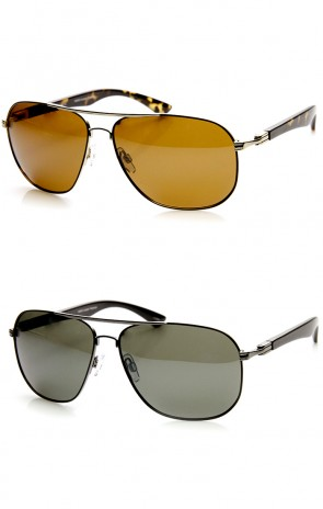 Polarized High Quality Contemporary Metal Aviator Sunglasses