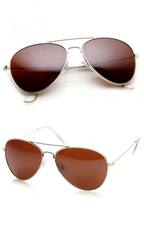 Blue Block Driving Lens Full Metal Teardrop Aviator Sunglasses