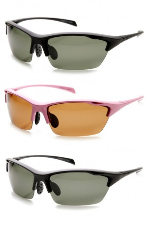 Durable TR-90 Polarized Lens Semi-Rimless Extreme Sports Sunglasses