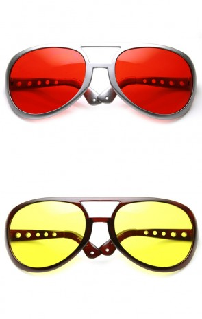 Extra Large Exaggerated Elvis Costume Aviator Sunglasses (6 Inches)
