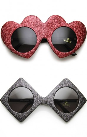 Card Symbol Shapes Heart Spade Diamond Club Novelty Sunglasses