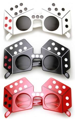 Dice Shape Craps Las Vegas Party Celebration Novelty Sunglasses