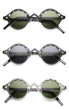 Full Metal Unique Retro Steampunk Fashion Round Sunglasses