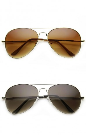 Classic Tear Drop Spring Temple Wire Metal Aviator Sunglasses 58mm