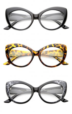 Mod Pointed Cat Eye Clear Fashion Frame Glasses
