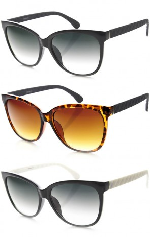 High Temple Bold Retro Womens Elegant Cat Eye Sunglasses