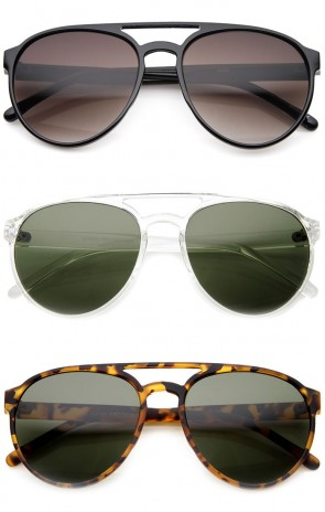 Thin Crafted Retro Plastic Aviator Sunglasses