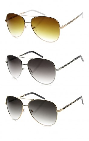 Womens Aviator Sunglasses With UV400 Protected Gradient Lens