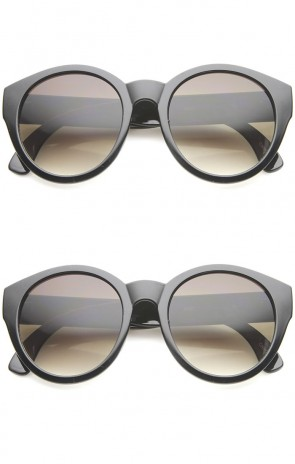 Bohemian Native Print Bead Accents Gradient Lens Round Cat Eye Sunglasses 54mm