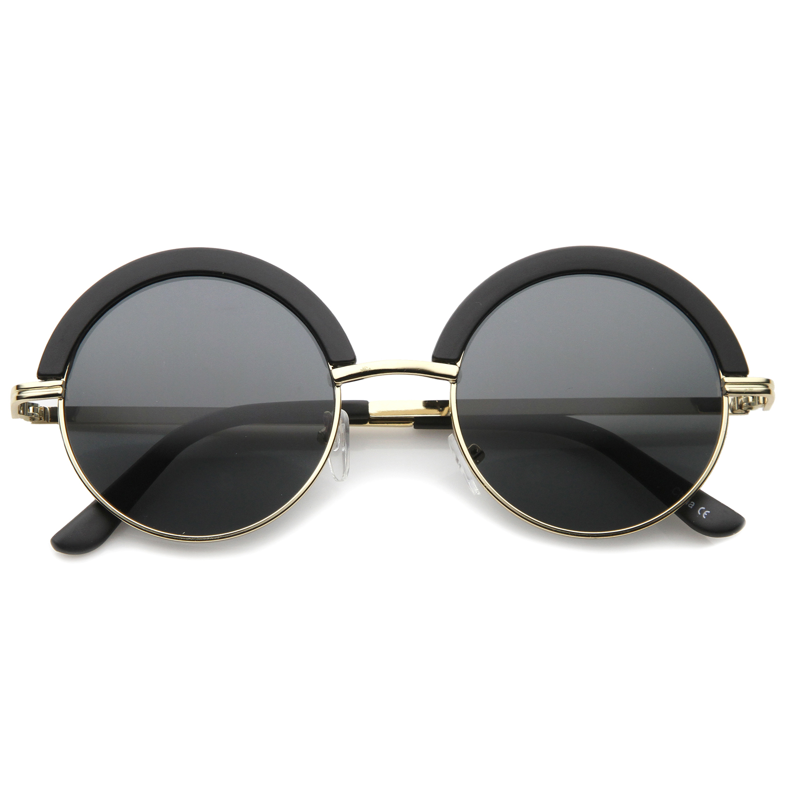 Half Framed Fashion Glasses : sunglassLA Mod Fashion Oversize Half-Frame Brow Eyelid ...