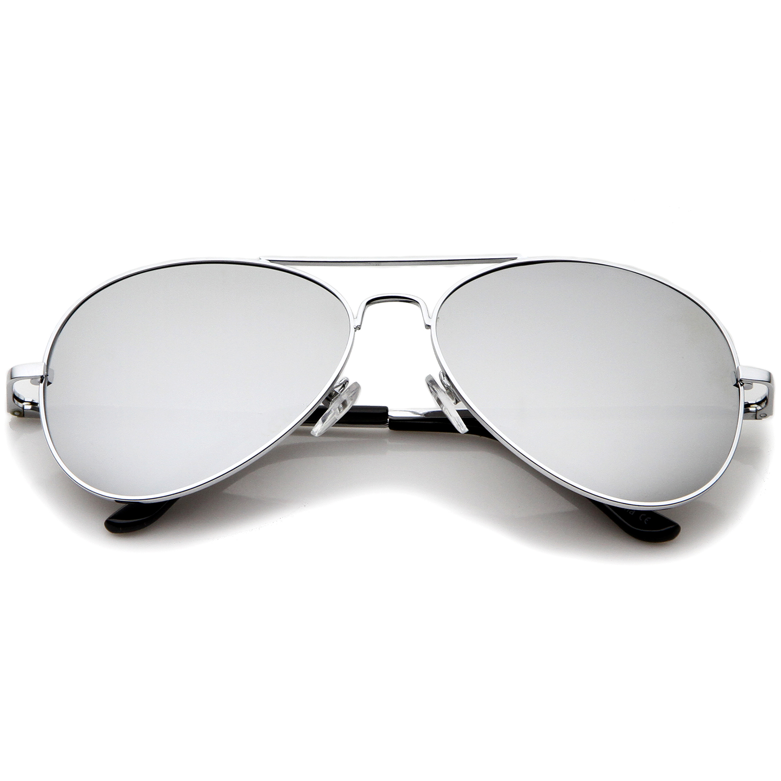 Classic metal frame spring hinges color mirror lens for Mirror sunglasses