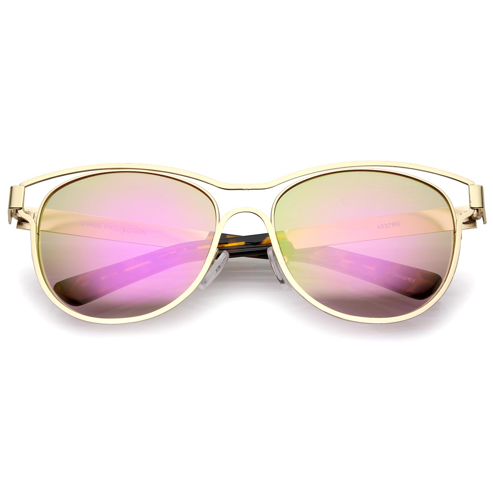 b78d5445d7 Celebrity Trend Alert  Rainbow-Bright Mirrored Sunglasses