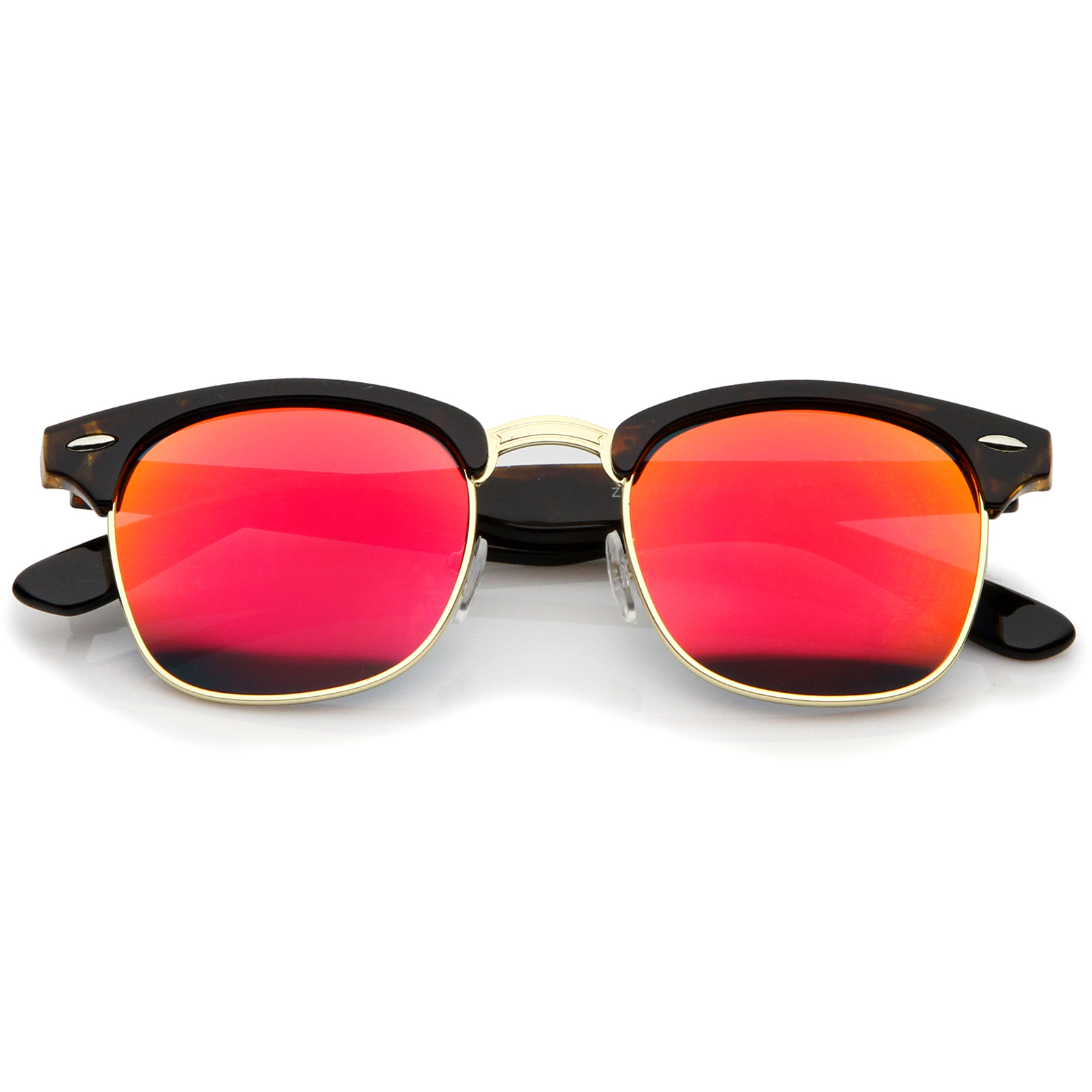 Mirrored Sunglasses Give your shades an upgrade with mirrored lenses! Available in two-tone and solid color options, these sunglasses will reflect your best views.