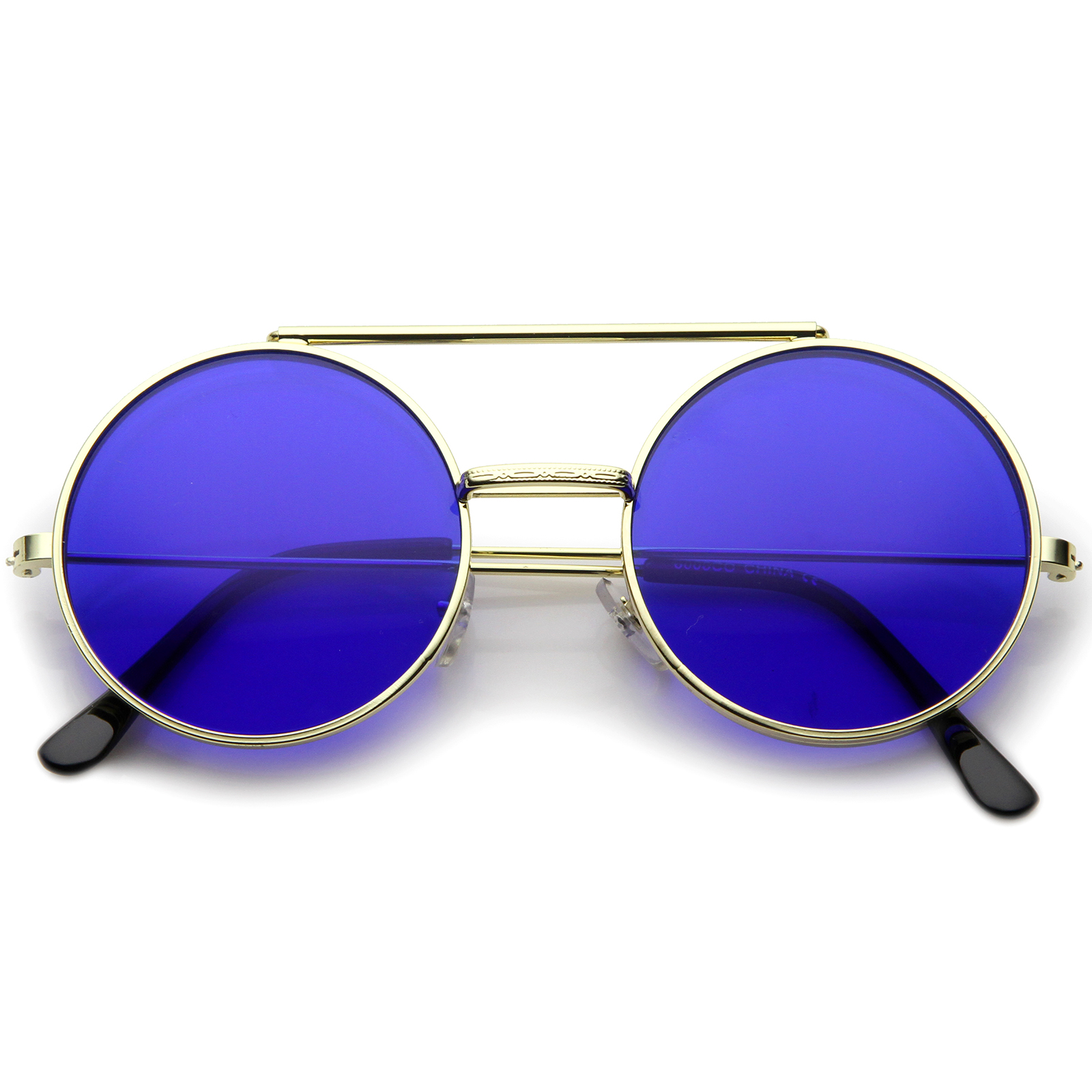 sunglassLA Mid Size Flip-Up Colored Lens Round Django ...