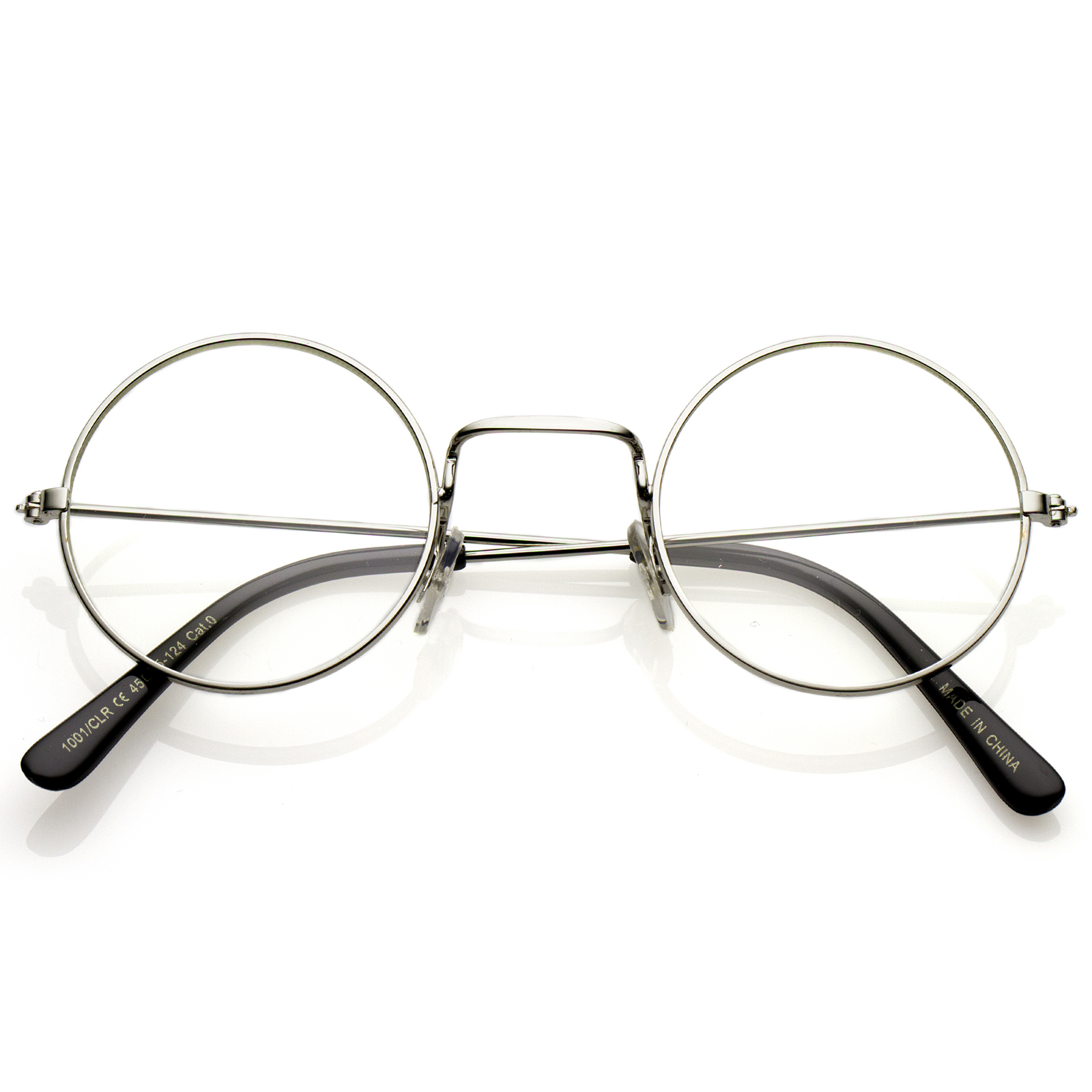 Eyeglasses Frame Temples : sunglassLA Classic Small Metal Frame Slim Temples Clear ...