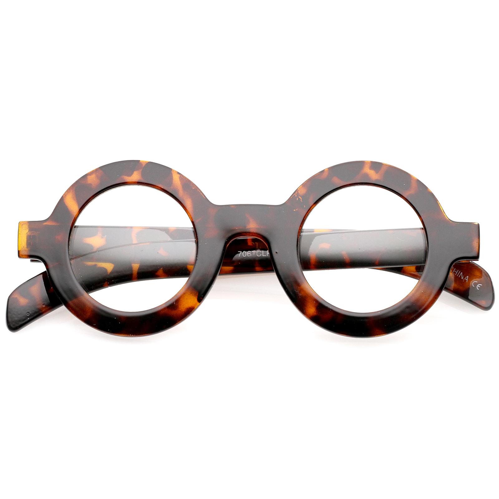 sunglassla bold thick frame flat clear lens eyeglasses