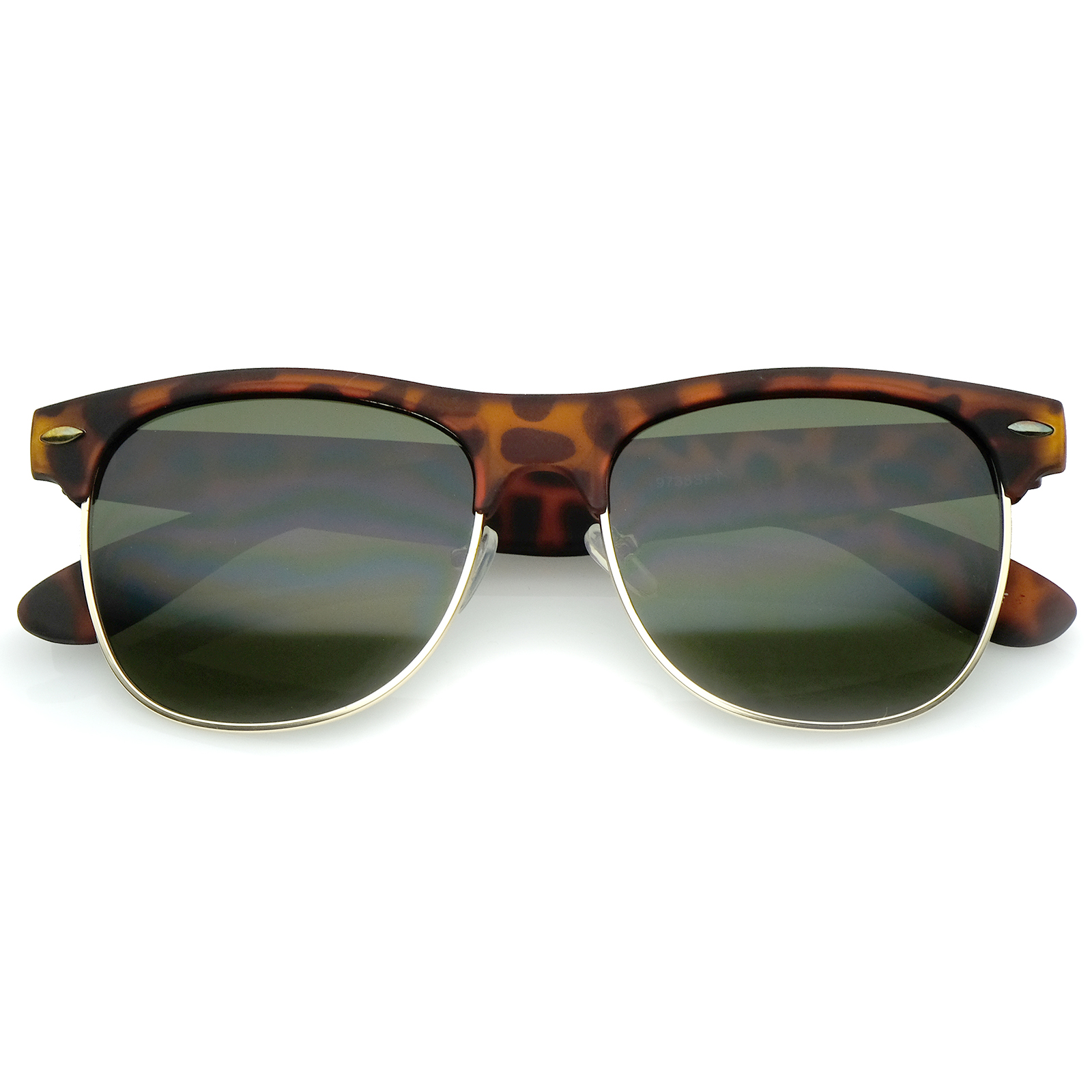 Half Frame Square Glasses : sunglassLA Classic Rubber Finish Half Frame Square Lens ...