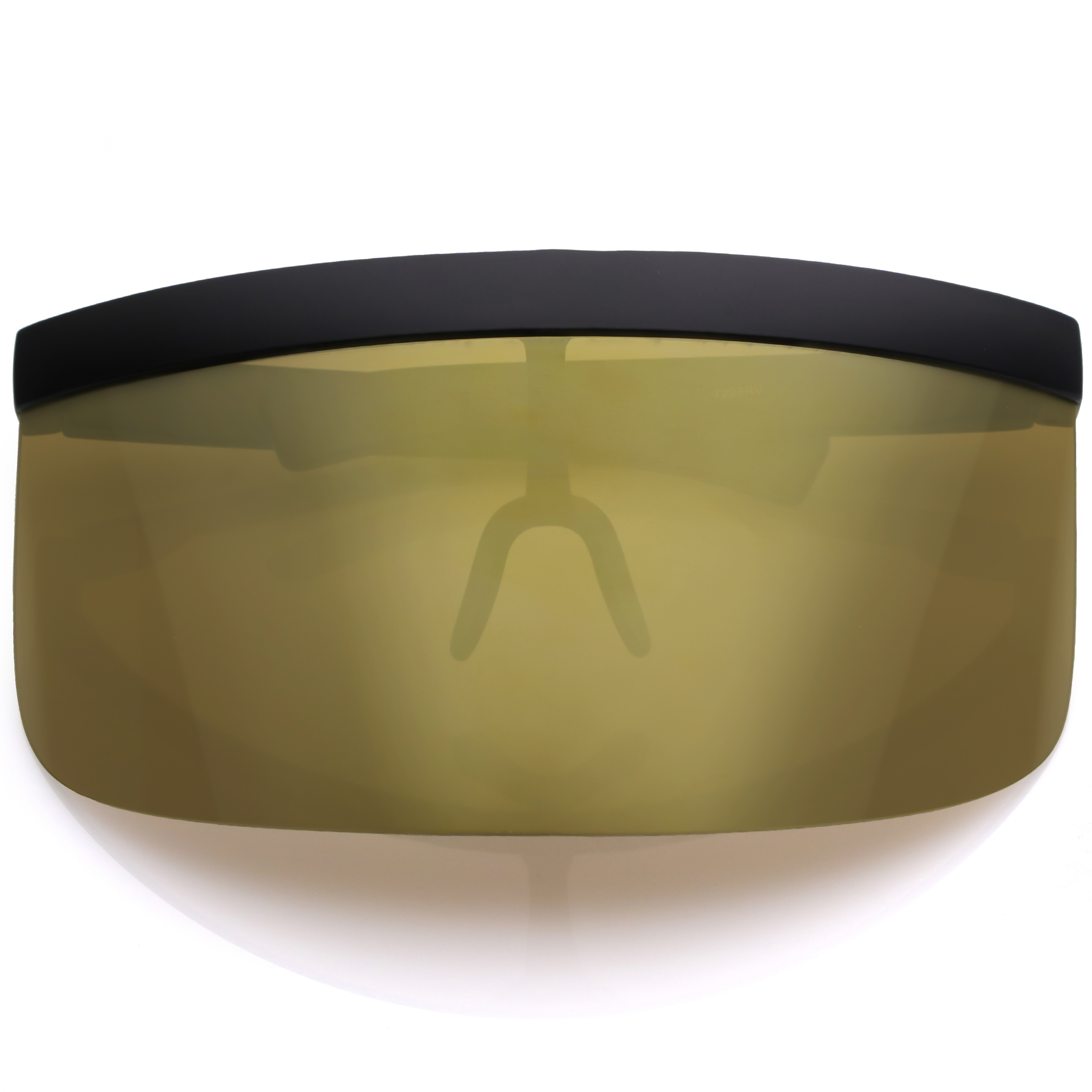 Sunglassla futuristic oversize shield visor sunglasses for Mirror visor