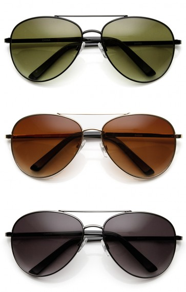 Unisex Round Metal Tear Drop Aviator Sunglasses