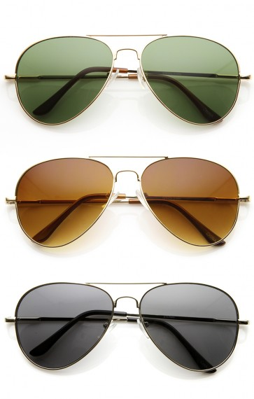 Classic Original Iconic Metal Aviator Sunglasses