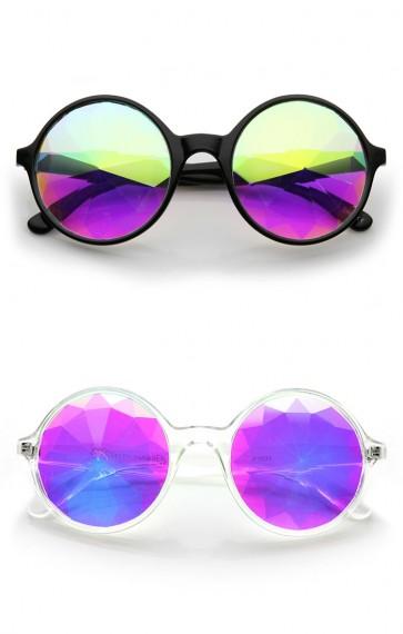 Emerald Light Effects Geometric Prism Kaleidescope Glasses