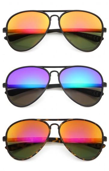 e07a0dc2c42 Mens Aviator Sunglasses With UV400 Protected Mirrored Lens