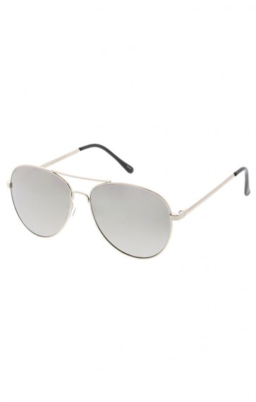 Modern Slim Round Mirror Aviator Wholesale Sunglasses