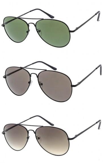 1931873db9 Unisex Classic Aviator Black Metal Frame Wholesale Sunglasses
