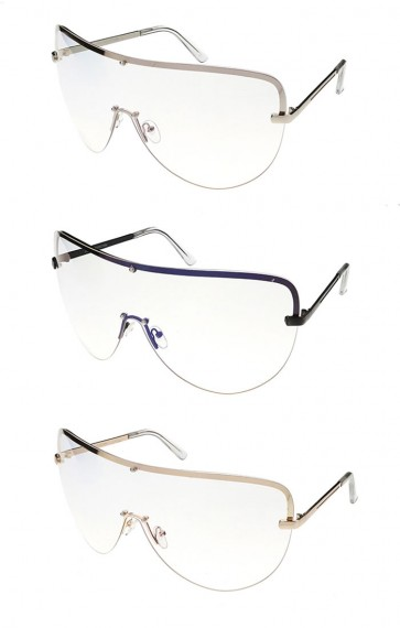 Oversized Retro Fashion Clear Lens Wholesale Sunglasses