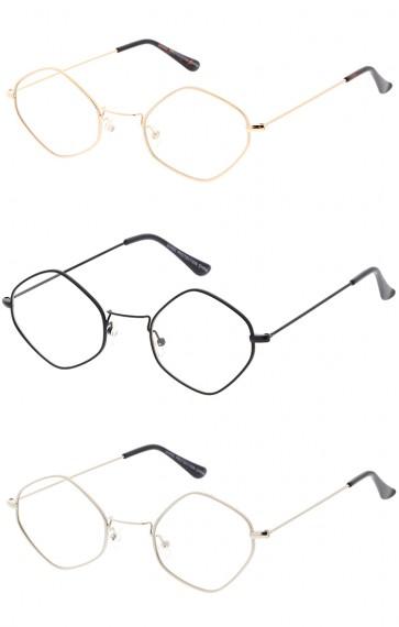 Premium Trending Retro 1990's Diamond Clear Lens Wholesale Sunglasses