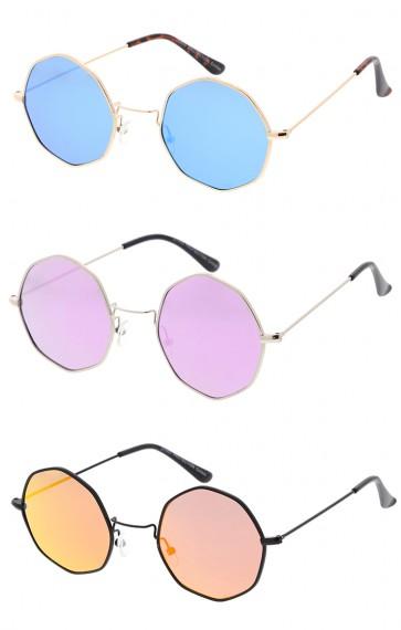 Retro Geometric Octagon Dapper Revo Lens Wholesale Sunglasses