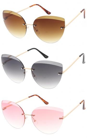 Retro Half Frame Cat Eye Fashion Wholesale Sunglasses