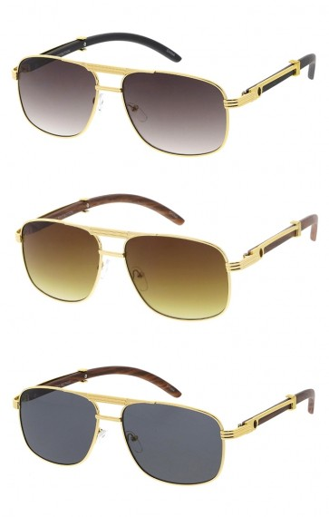 Square Aviator Mens Wholesale Sunglasses
