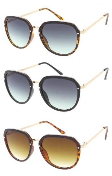 Womens Plastic Frame Aviators Wholesale Sunglasses