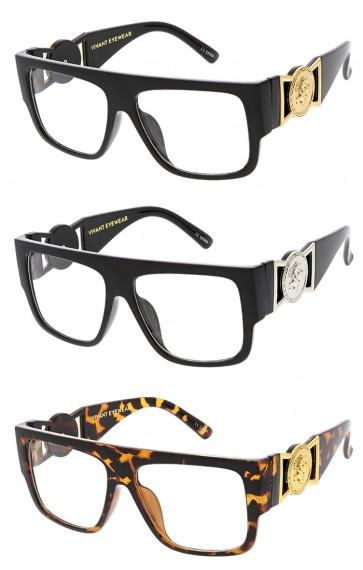 Classic Flat Top Modern Clear Logo Wholesale Sunglasses