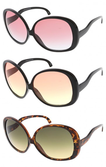 Womens Butterfly Curved Arms Wholesale Sunglasses