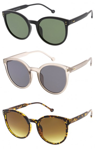 Oversize Women's Flat Lens Cat Eye Wholesale Sunglasses