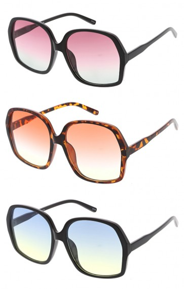 Womens Retro 1950's Fashion Color Lens Wholesale Sunglasses