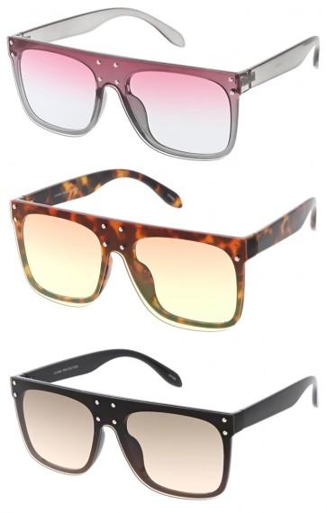 Celebrity Studded Retro Horn Rimmed Wholesale Sunglasses