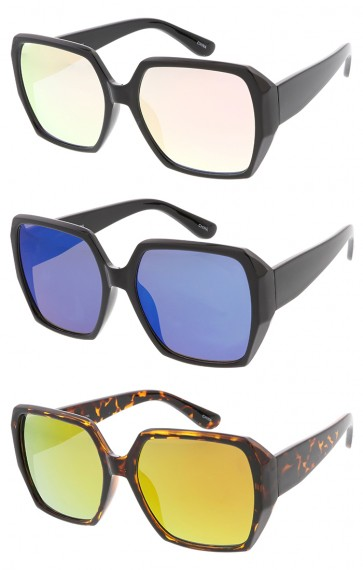 Super Block Square Womens Fashion Revo Lens Wholesale Sunglasses
