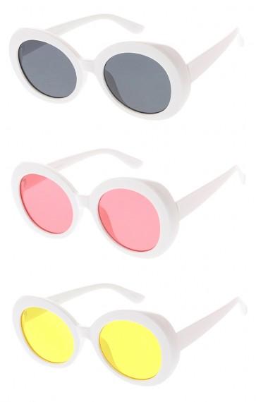 Oversized Round Retro Clout Goggles Color Lens Wholesale Sunglasses