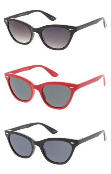 Thin Horn Rimmed Cat eye Womens Wholesale Sunglasses