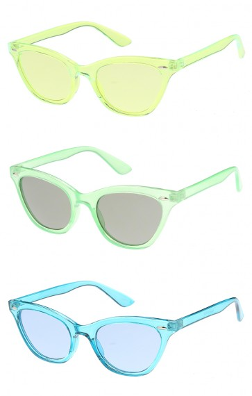 Small Colorful Frame Cat Eye Womens Wholesale Sunglasses