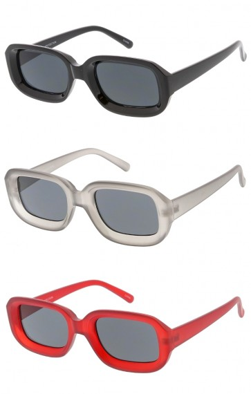 Chunky Retro Rectangle Wholesale Womens Sunglasses