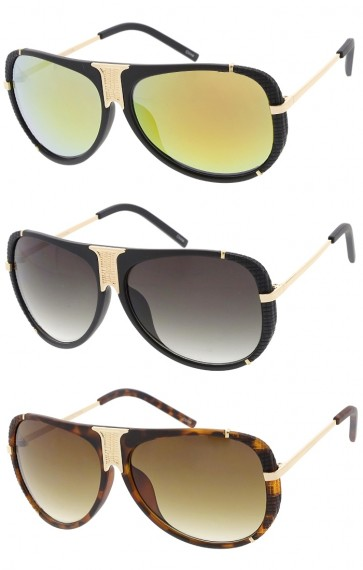 Fashion Luxury Matte Round Aviator Wholesale Sunglasses