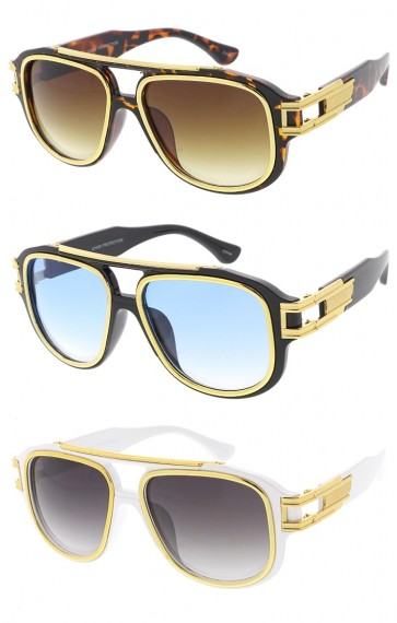 Oversized Flat Top Aviator Wholesale Sunglasses