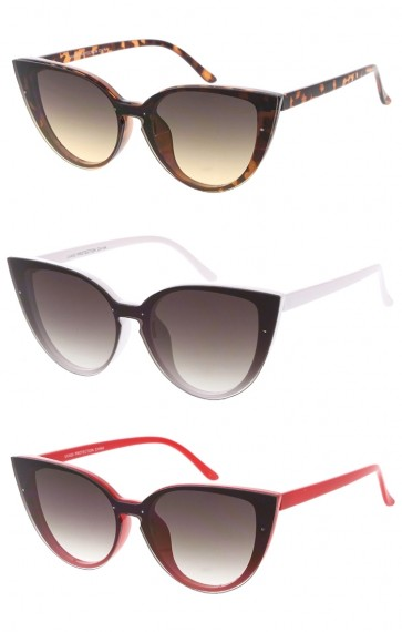Womens Fashion One Piece Lens Cat Eye Wholesale Sunglasses